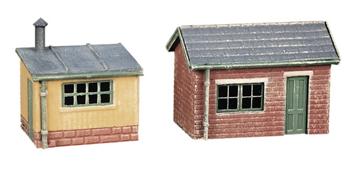 237 N GAUGE 2 Lineside Huts (1 Brick, 1 Wood)