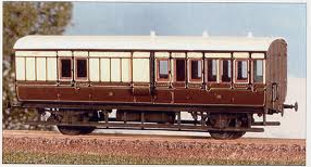 613 GWR 4 Wheeled Coach Brake Third
