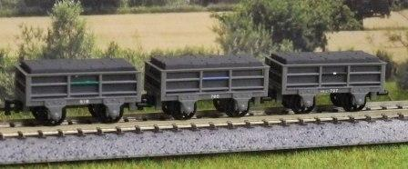 GR-320 3 x 2 Ton Slate Wagons All Unbraked
