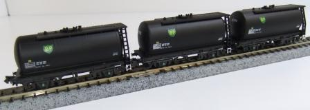 Offer 7. 3x Black BP TTA Type C tank wagons A,B,C