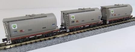 Offer 8. 3x Grey BP TTA tank wagons A,B C