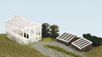 SS20 Greenhouse & Cold Frames, inc. glazing material